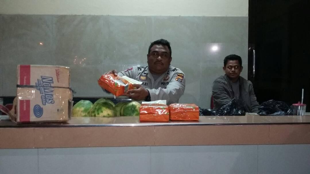 Polres Lokhseumawe Gerebek Kota Binjai Bandar, Kurir dan 3